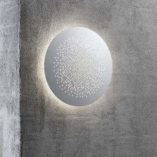 kinkiet zewnętrzny okrągły na elewacje budynku