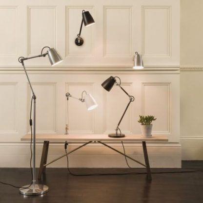 kinkiety, lampy stołowe i podłogowe - aranzacja w salonie