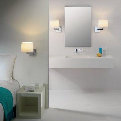 kinkiety łazienkowe - aranżacja lustra i oświetlenia