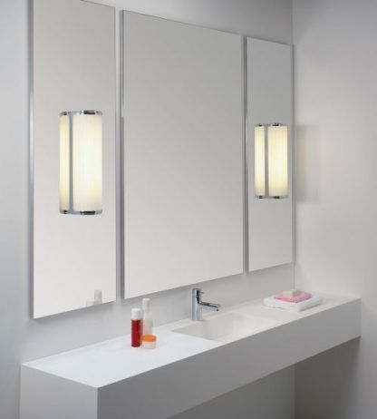 kinkiety montowane na lustrze - nowoczesne szklane