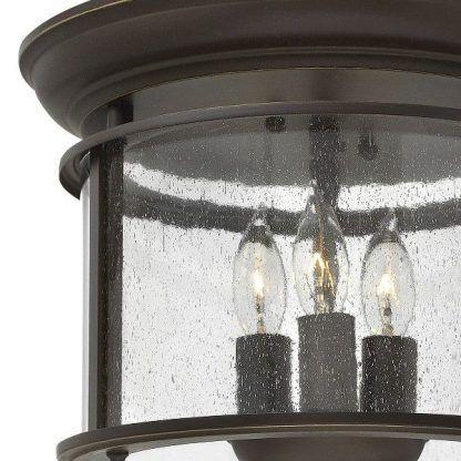 klasyczna brązowa lampa sufitowa dekoracyjne szkło