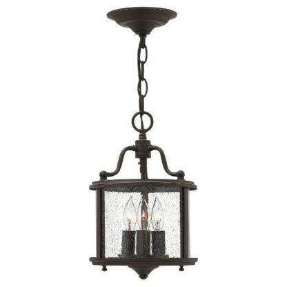 klasyczna brązowa lampa wisząca do przedsionka