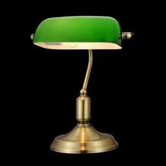 klasyczna lampa biurkowa złota podstawa