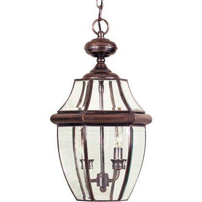 klasyczna lampa ciemnobrązowa do drzwi wejściowych - ganek