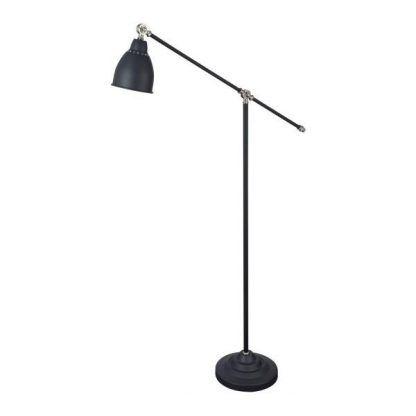 klasyczna lampa podłogowa do salonu czarna