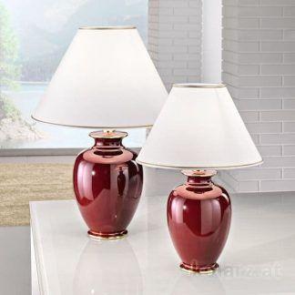 klasyczna lampa stołowa do salonu abażur ivory