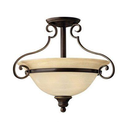 klasyczna lampa sufitowa brązowe zdobienia