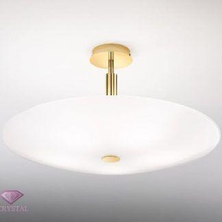 klasyczna lampa sufitowa pozłacana podstawa