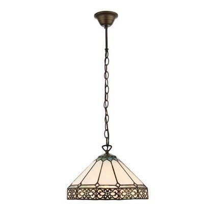 klasyczna lampa wisząca do jadalni witrażowe szkło