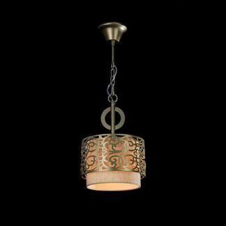 klasyczna lampa wisząca ze złotym wzorem ciętym laserowo