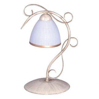klasyczna ozdobna lampka stołowa na komodę do salonu