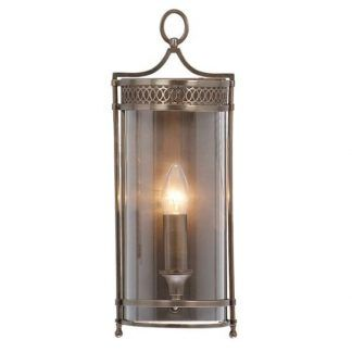 klasyczny kinkiet lampion ze szklaną osłonką