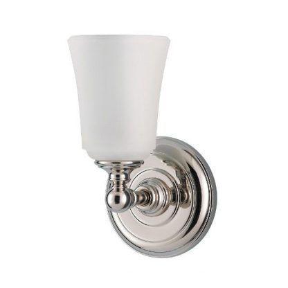 klasyczny kinkiet szklany chromowany do łazienki - kielich