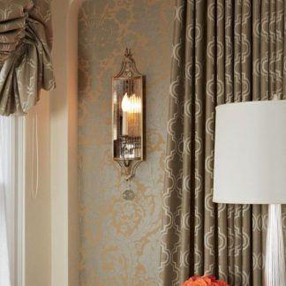 klasyczny kinkiet z lustrami aranżacja sypialnia