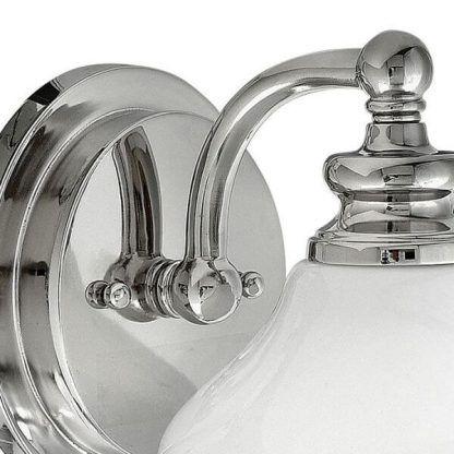 klasyczny kinkiet ze szklanym kloszem do łazienki