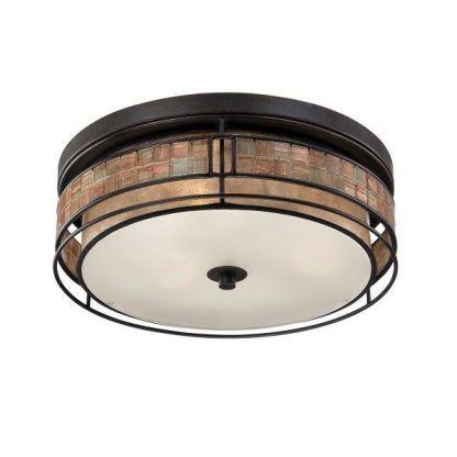 klasyczny okrągły plafon do salonu - zdobiony mozaiką