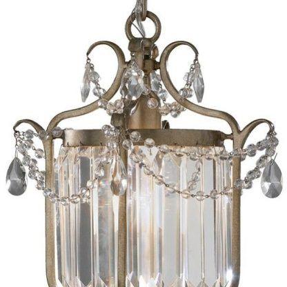 klasyczny pałacowy kinkiet zdobiony kryształkami