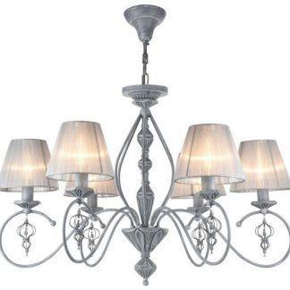 klasyczny żyrandol z abażurami do sypialni