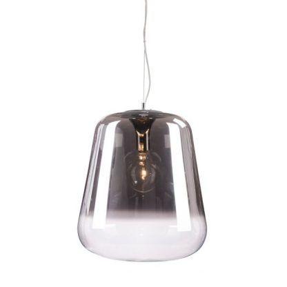 klosz szklany z żarówką dekoracyjną nad stół do jadalni