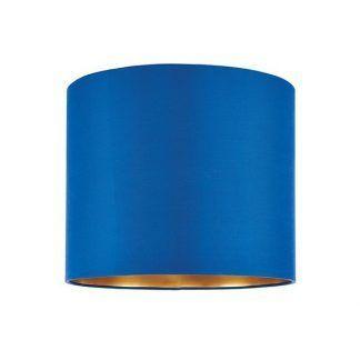 kobaltowy abażur do lampy stołowej