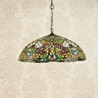kolorowa witrażowa lampa wisząca do kuchni