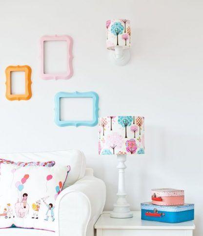 kolorowe lampy dla dzieci - biel i róż