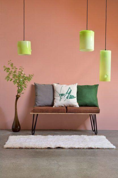 kolorowe lampy wiszące ze szkła do salonu