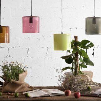 kolorowe lampy ze szkła aranżacja nowoczesne