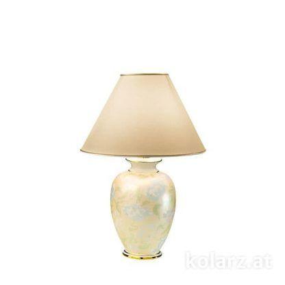 kremowa lampa stołowa z abażurem do salonu