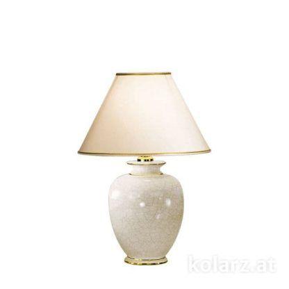 kremowa lampa stołowa z efektem pęknięć