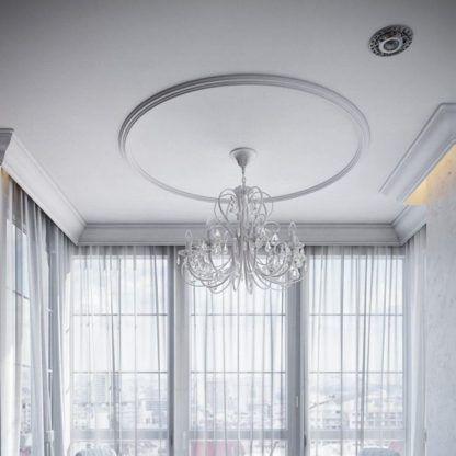 kremowy luksusowy żyrandol aranżacja salon
