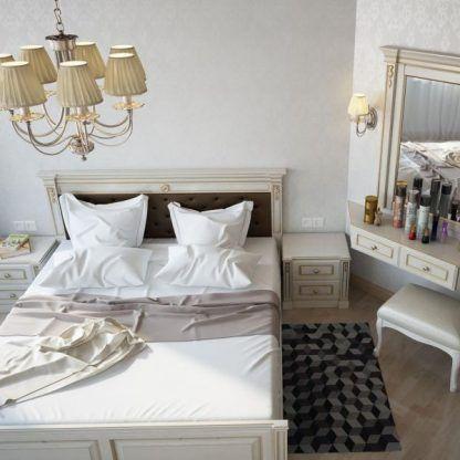kremowy żyrandol aranżacja sypialnia klasyczna