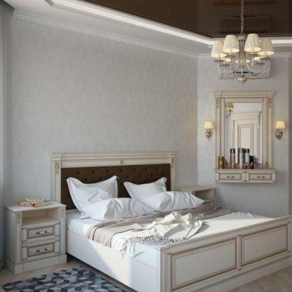 kremowy żyrandol do eleganckiej sypialnia aranżacja