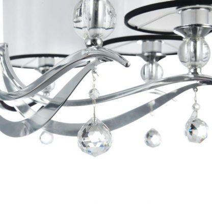 Kryształki srebrnego żyrandola Terra