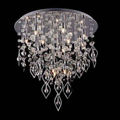 kryształowa lampa sufitowa glamour ze zdobieniami
