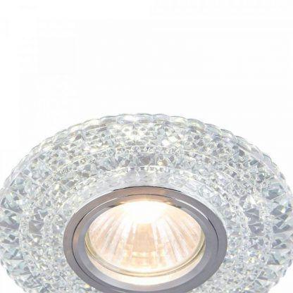kryształowe oczko sufitowe glamour do wnętrza