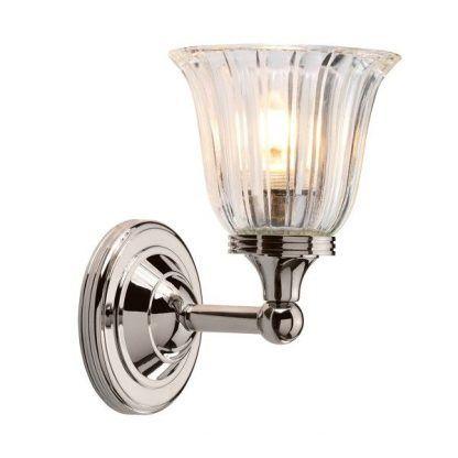 kryształowy kinkiet łazienkowy glamour - srebrny