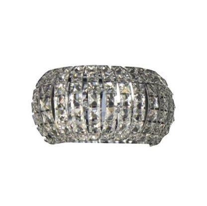 kryształowy kinkiet srebrny lśniący ze szkła