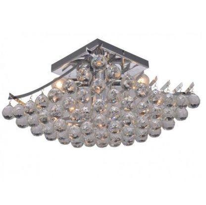 kryształowy plafon ze szklanymi kulkami polerowanymi