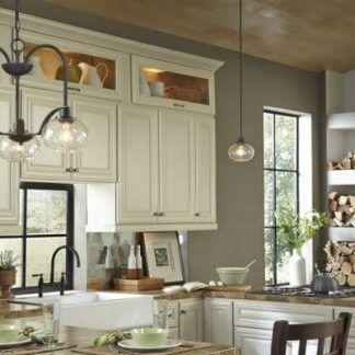 kuchnia modern classic oświetlenie lampy wiszące