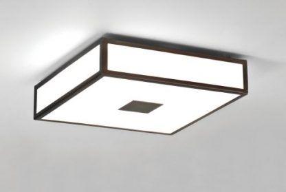 kwadrat plafon szklany w brązowym kolorze
