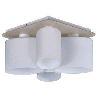 kwadratowa lampa sufitowa ze spotami - nowoczesna