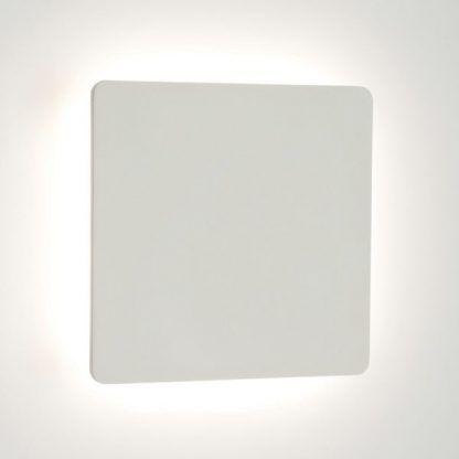 kwadratowy kinkiet biały płaski do dekoracji