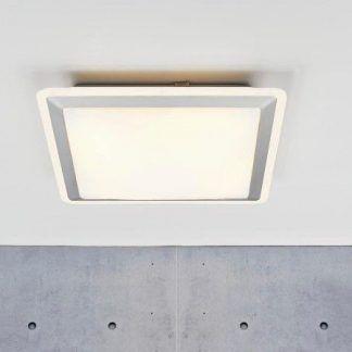 kwadratowy plafon sufitowy w nowoczesnym stylu - led