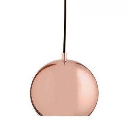 lamp miedziana ball kula wisząca do kuchni nad stół