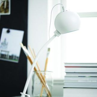 lampa biurkowa ball do kolekcji - biała podstawa
