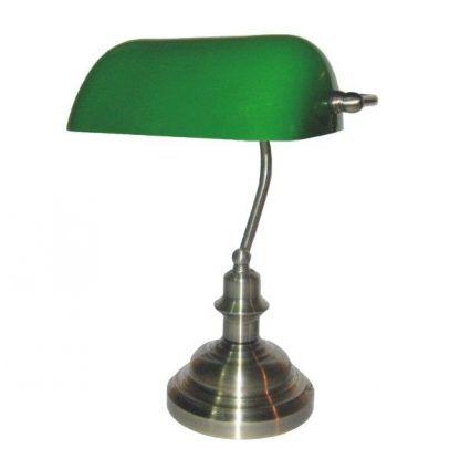 lampa biurkowa do gabinetu zielony klosz
