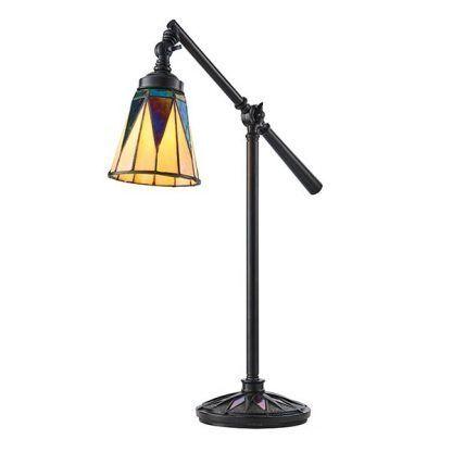 lampa biurkowa z regulacją witrażowy klosz