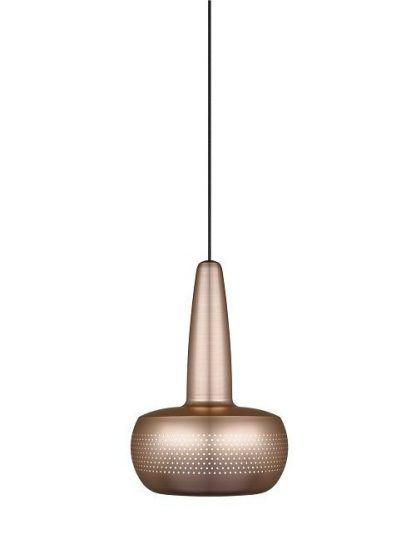 lampa brass miedziana nad stół w małej jadalni