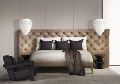 lampa conia - wiszace oświetlenie do sypialni beżowej